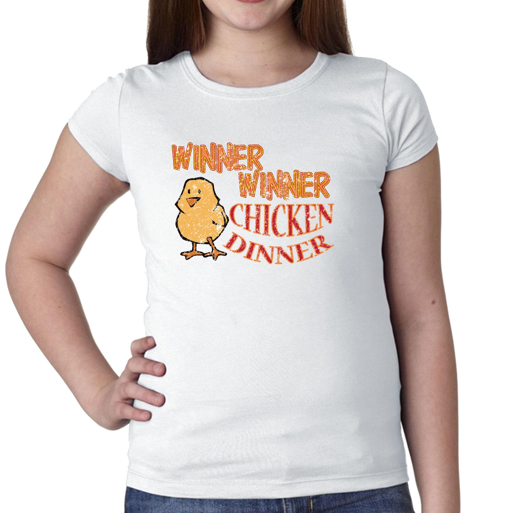 Winner Winner Chicken Dinner - Cool Graphic Girl's Cotton...