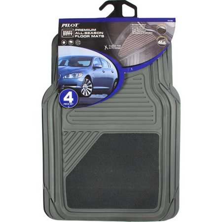 Cars Floor Mats 4pc Gray Universal Rubber All Weather