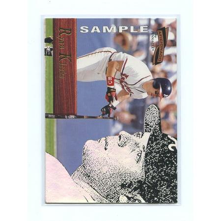 1996 Pinnacle Aficionado Sample #107 Ryan Klesko Atlanta Braves Sample -