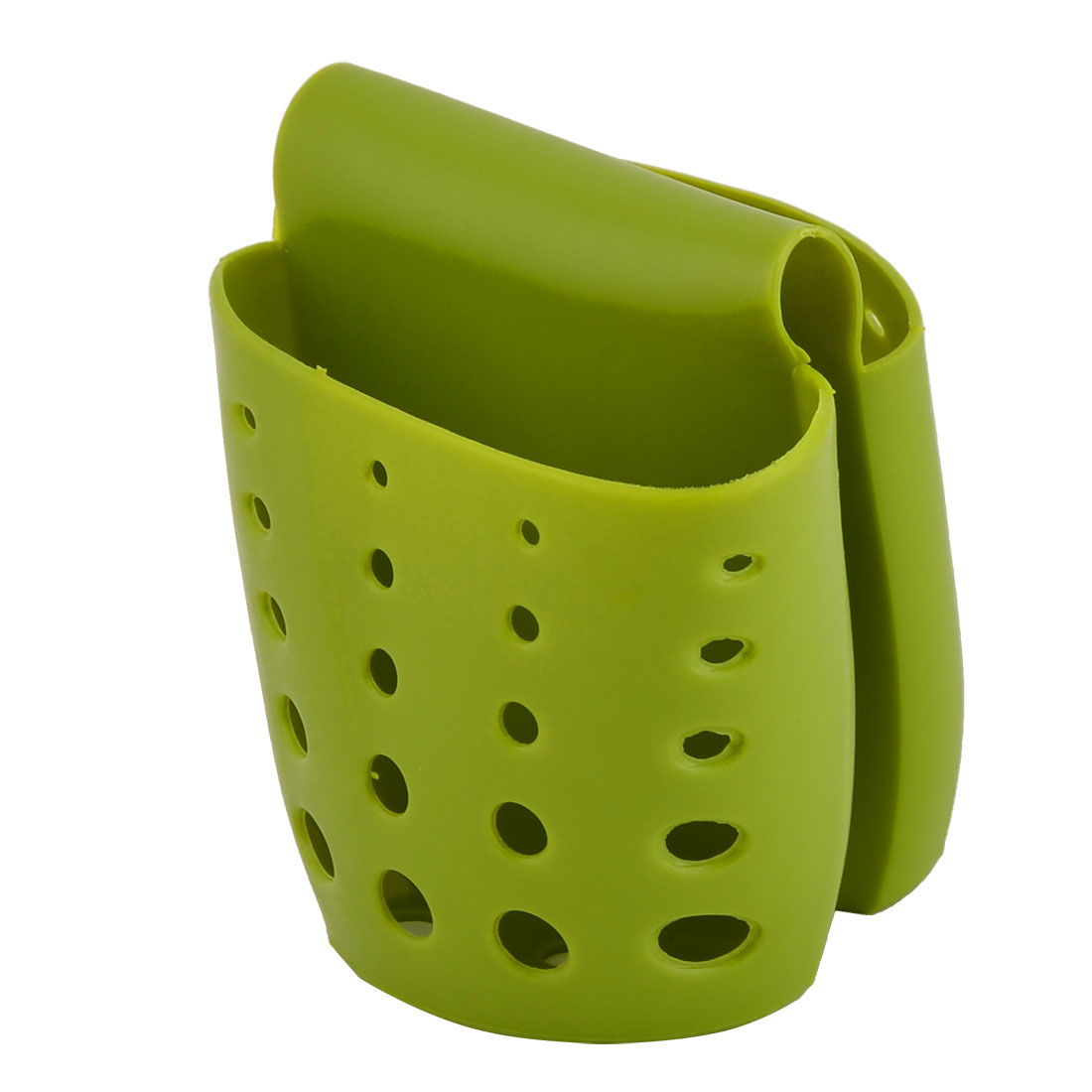 Household Saddle Design Sink Faucet Sponge Drainer Holder Basket Green
