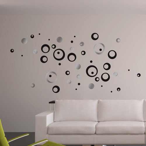 Brewster Home Fashions Euro Circles Wall Decal