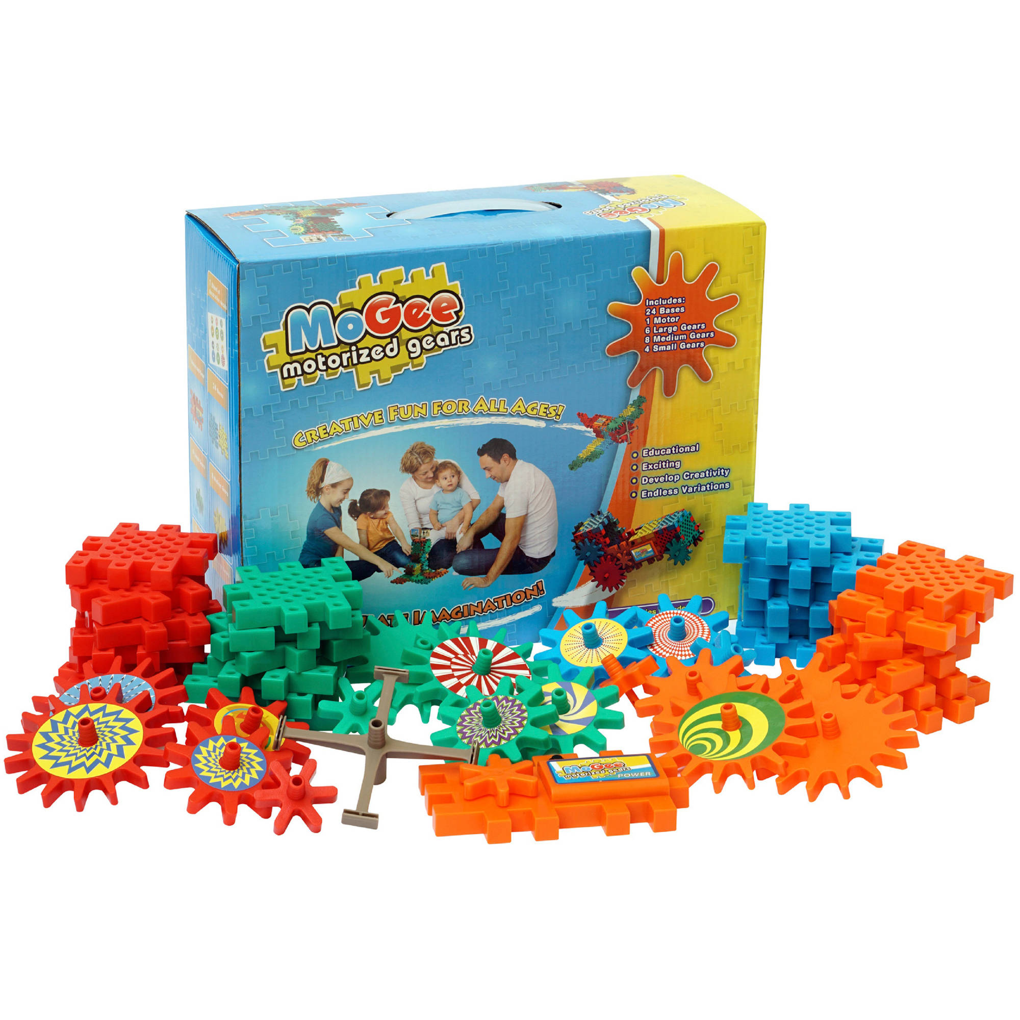 MoGee Motorized Gears Beginner Building Set Walmart