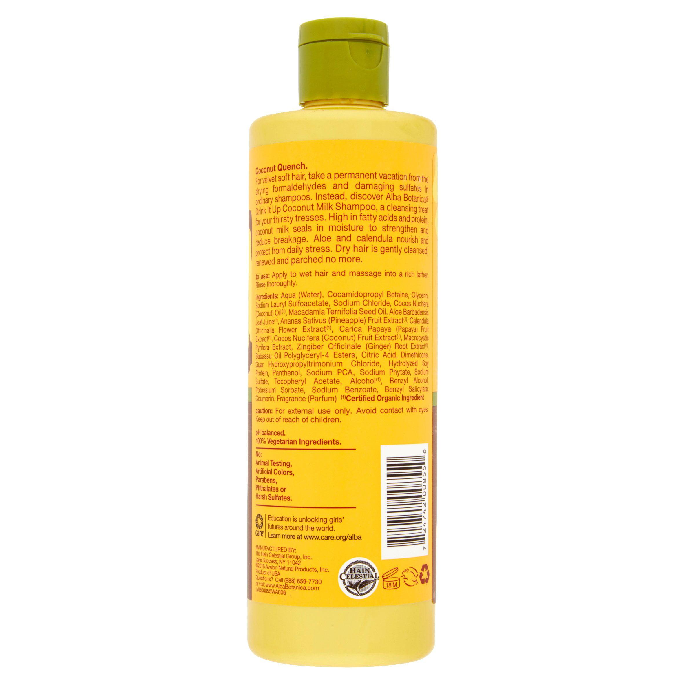 Alba Botanica Hawaiian Moisturizing Shampoo Coconut Milk 12 oz
