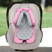 On the Goldbug 2-in-1 Infant Head Support, Solid Pink