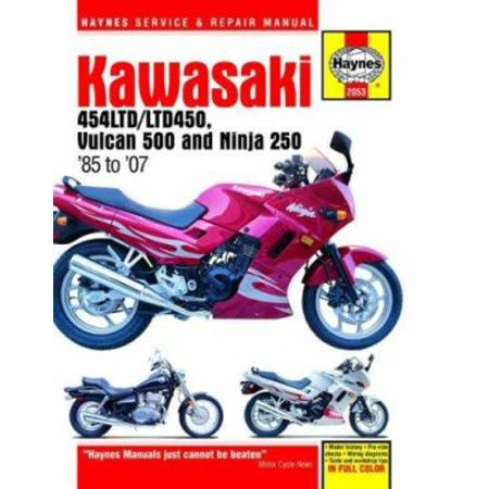 Kawasaki 454LTD/LTD450 Vulcan 500 and Ninja 250: Service and Repair Manual