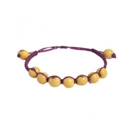 The Andean Collection Costa Bracelet - Acai Fair Trade Jewelry Lemon