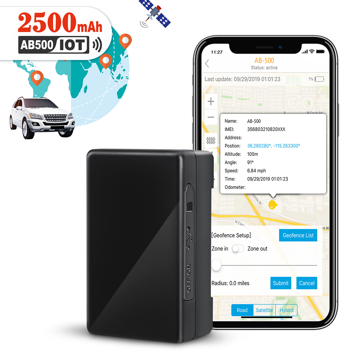 Logistimatics 4G Verizon GPS Tracker For Vehicles Cars GPS Tracker w No Contract