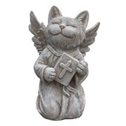 Cat Angel Memorial Statue  Garden Marker - Praying Cat Angel - Devotional Pet Remembrance Stone - for Indoor or Outdoor Use - from Clovers Garden