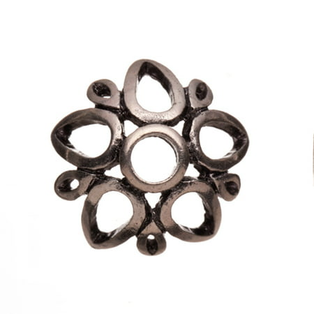 Antique Silver-Plated, Star Shape Formed With Open Drop Antique Silver-Plated Bead Cap Fits 19-21mm Beads 19x19mm Sold per pkg of 6pcs per - W-9 Form Nj