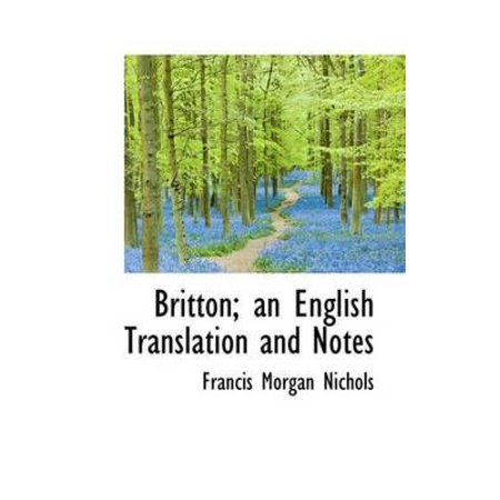Britton; An English Translation and Notes - image 1 de 1