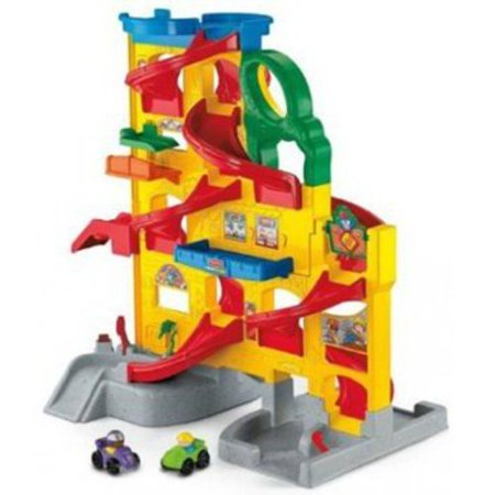 Fisher price little people wheelies stand 39 n play rampway for Garage comos sauvian occasion