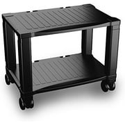 Printer Stand HC-2401 Stand-2-Tier Under Desk Table for Fax, Scanner, Office Supplies-Compact and Mobile with Wheels