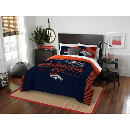 Sam Football - Denver Broncos COMBO 5 Pc FULL / QUEEN Size Comforter Set Includes: Comforter, 2 Pillow Shams & 2 Pillowcases -NFL Football Bedding Accessories