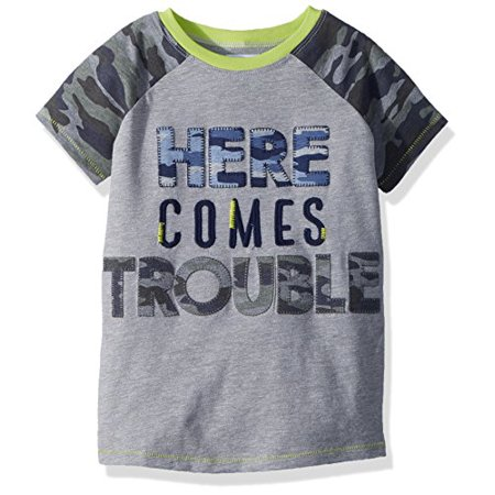 Tee Mud Pie (Mud Pie Baby Boys Camo Short Sleeve T-Shirt Trouble, Green LG/ 4T-5T)