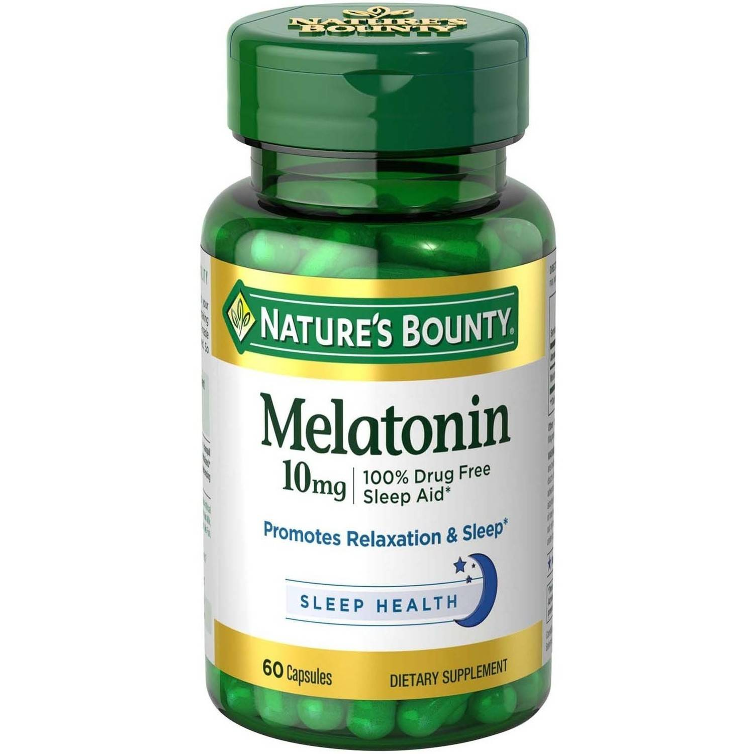 Nature's Bounty Melatonin Dietary Supplement Capsules, 10mg, 60 count