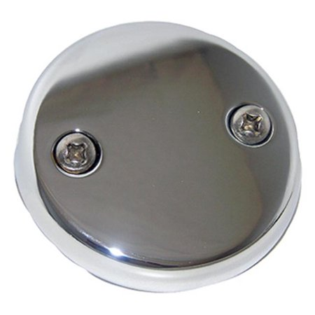 LARSEN SUPPLY CO., INC. Bathtub Waste And Overflow Plate, Two Hole Style, With Screws Chrome Plated 03-1425