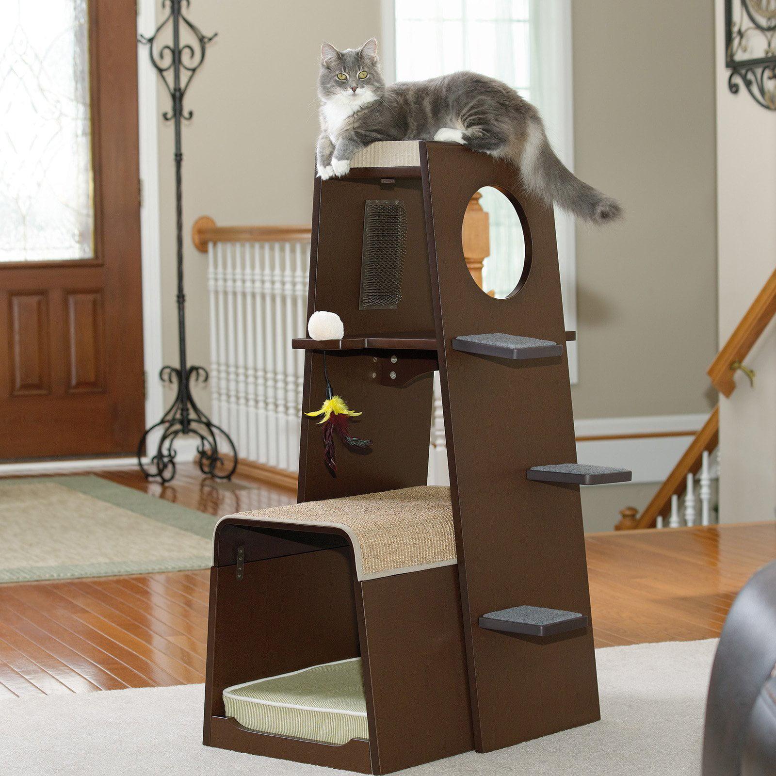 Sauder woodworking modular 42 in modern cat tower walmart com