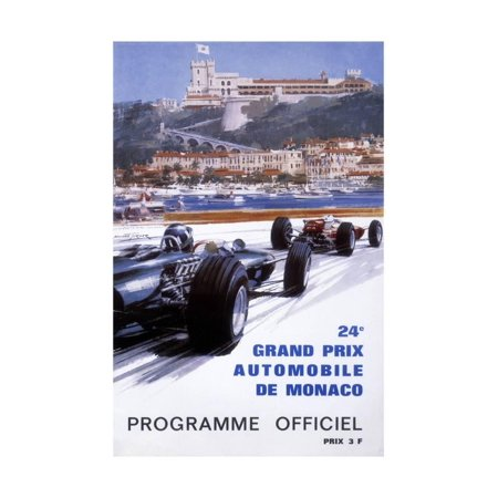 - The Official Programme for the 24th Monaco Grand Prix, 1966 Print Wall Art By Michael Turner