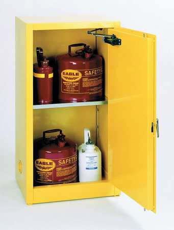 Eagle Flammable Liquid Safety Cabinet, Galvanized Steel, Yellow, 1904