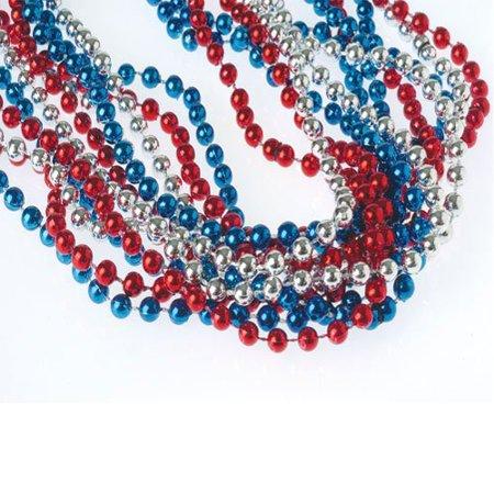 Red, White, & Blue Metallic Necklaces