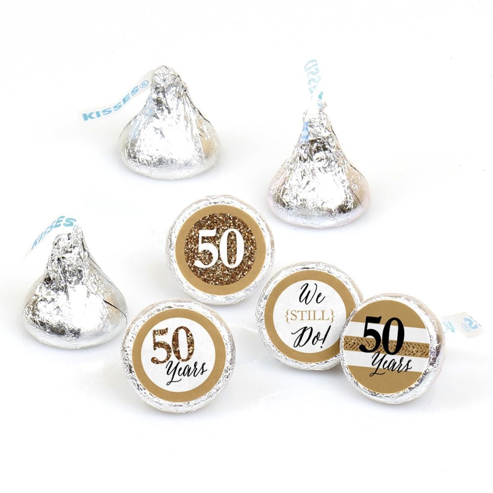We Still Do - 50th Wedding Anniversary - Party Round Candy Sticker Favors Labels Fit Hershey's Kisses (1 sheet of 108)