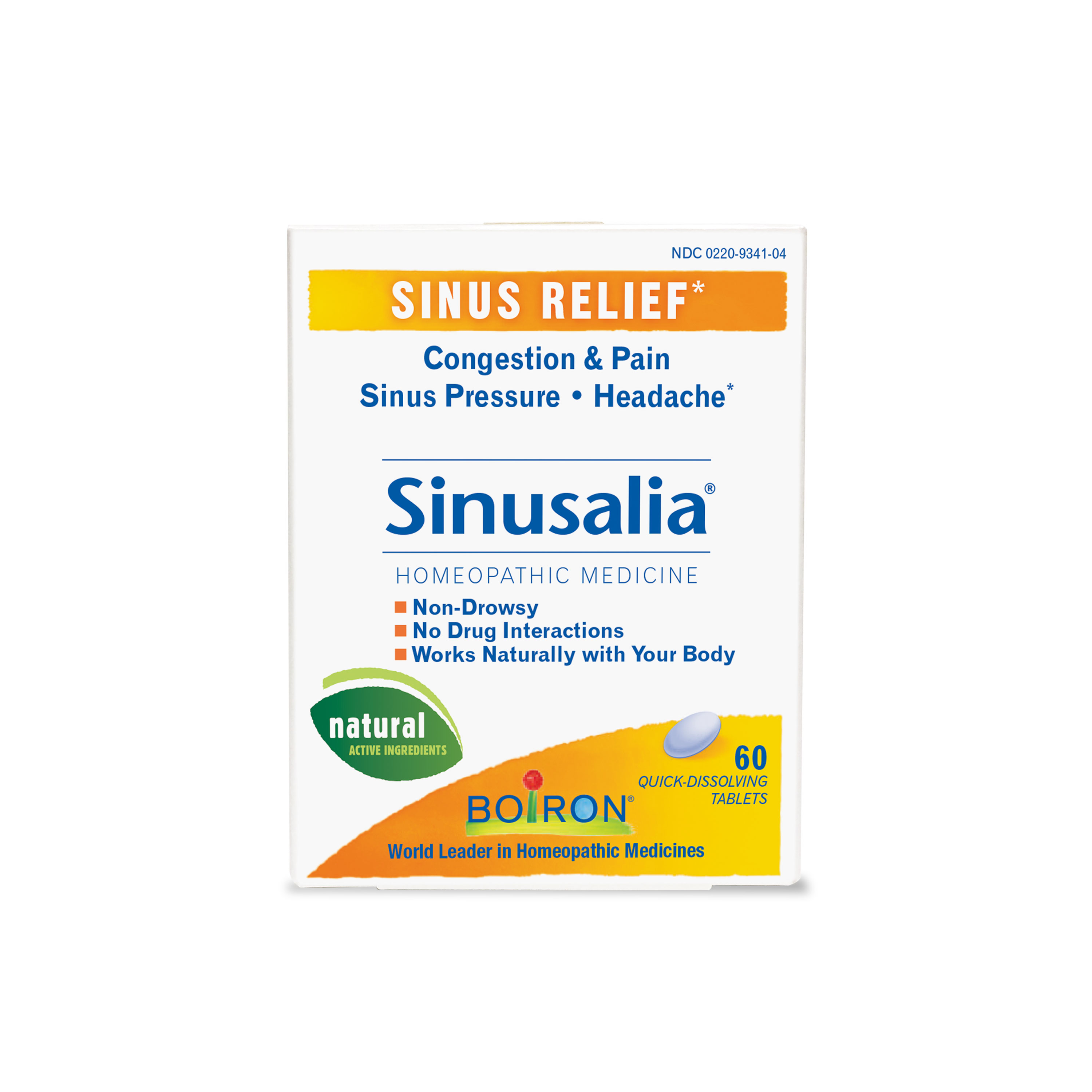 Boiron Sinusalia Sinus Relief Tablets, 60 Ct
