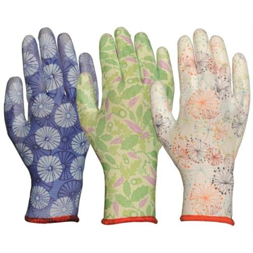 Bellingham Glove 2603AP Assorted Pattern with Polyurethane Palm Gloves, Large