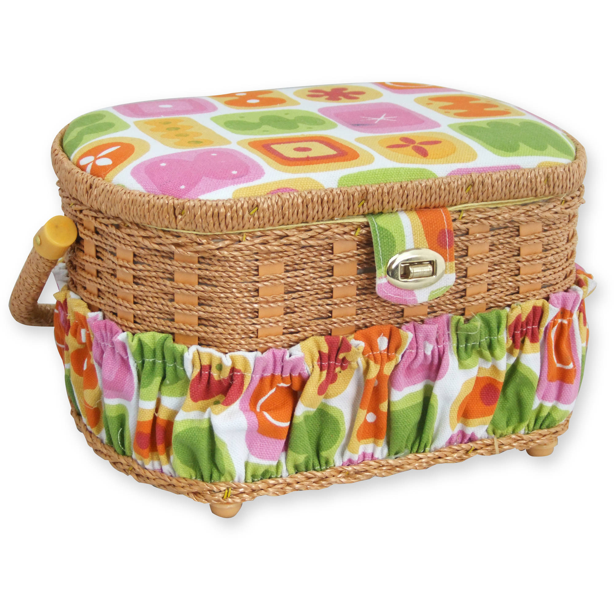 Michley Sewing Basket with 41-Piece Sewing Kit