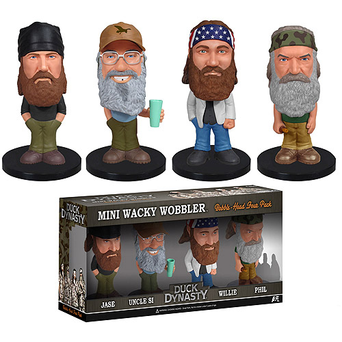 Funko Duck Dynasty 4-Pack Mini Bobble Head Pop! Vinyl Figures
