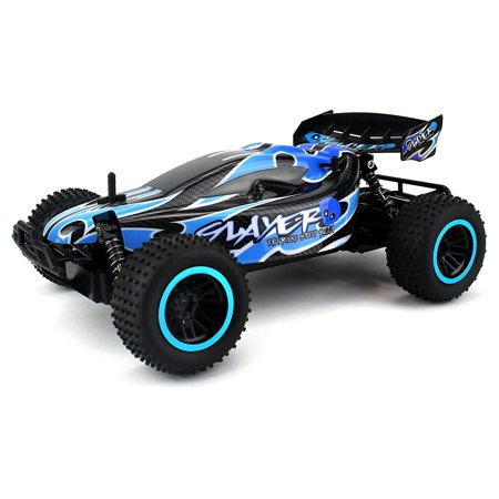 Skull Slayer Remote Control RC Buggy Car 2.4 GHz PRO System 1:12 Scale Size RTR w/ Working Suspension, Spring Shock Absorbers (Colors May Vary) (Wolf Pro Remote Control Car)