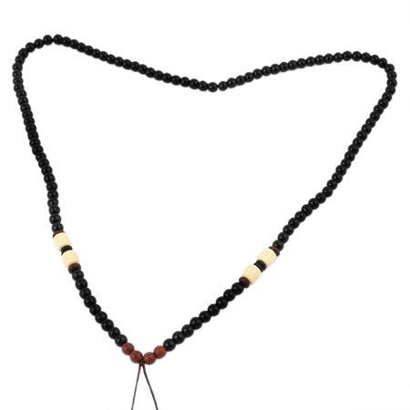 Black Round Beads Nylon DIY Necklace Pendant String Cord 23  Girth