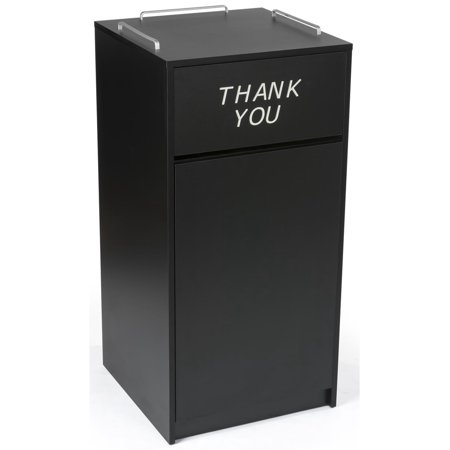 Displays2go 36 Gallon Commercial Waste Bin, Restaurant & Food Court Common Areas, Recycling & Tray Storage,](Restaurant Story Halloween Items)
