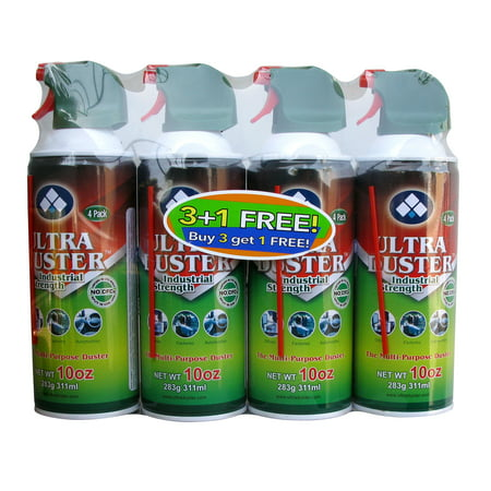 Ultra Duster Aerosol With Trigger, 4pack