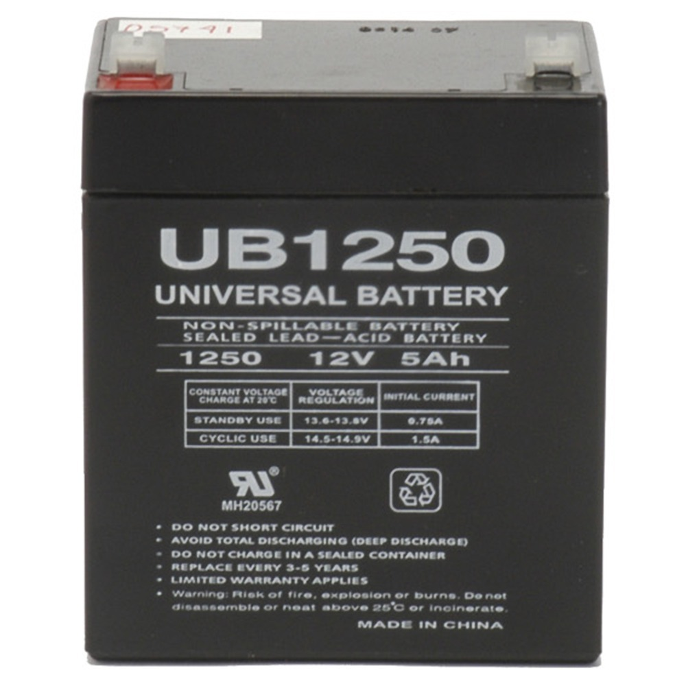12V 5AH SLA Battery Replaces Ion Tailgater Portable PA System