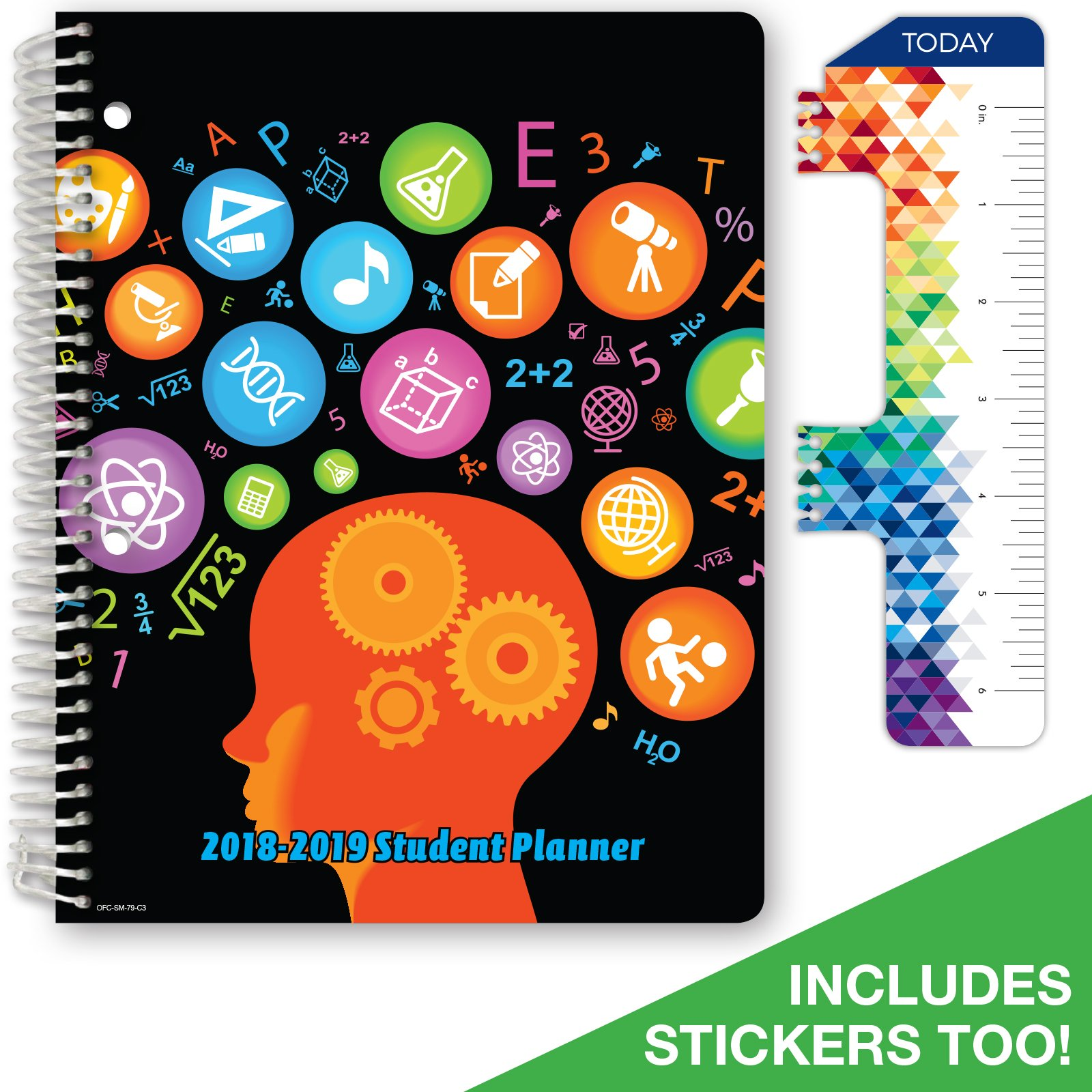 """2018-2019 Student Planner 7""""x9"""" High School or Middle School for Academic Year 2018-2019 (Matrix... by Global Datebooks"""