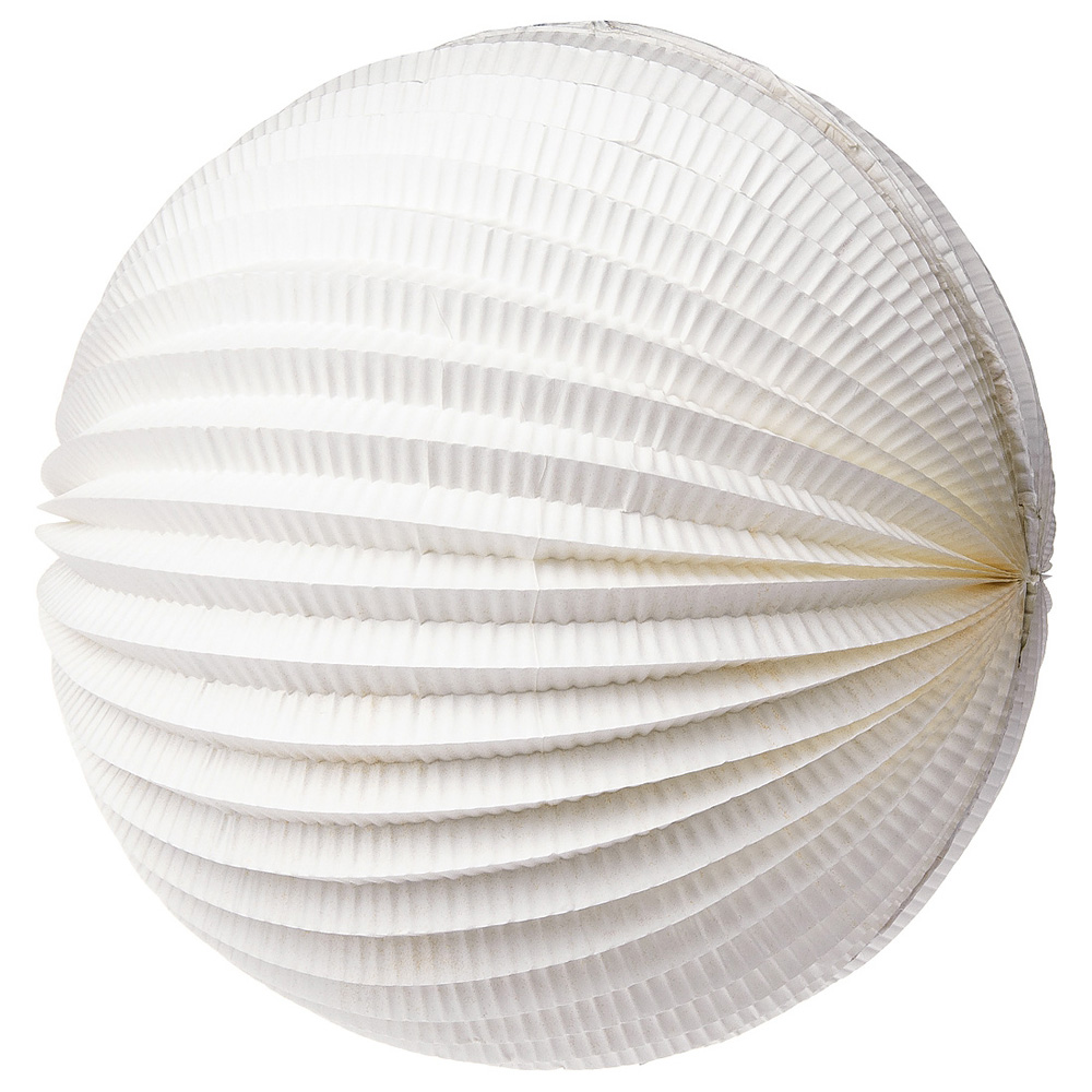 Luna Bazaar Accordion Paper Lantern (12-Inch, White) - Chinese/Japanese Hanging Decorations - For Home Decor, Parties, and Weddings