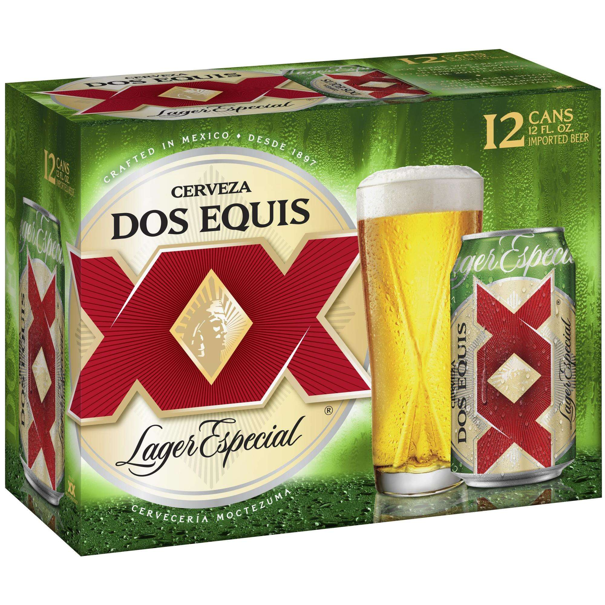 Cerveza Dos Equis Lager Especial Mexican Beer, 12-Pack 12 Oz. Cans