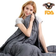 """Auchen 60x80 Weighted Blankets 20 lbs   60""""x80"""", 20 lbs for Queen Bed   2019 Newest Adult Heavy Gravity Blanket for Natural Deep Sleep, Reduce Stress, Anxiety, ADHD, OCD   Great Health Sleep Gifts!"""