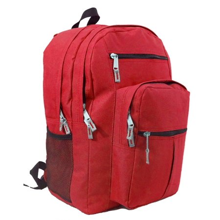 Student Pack (Backpack 18 inch School Book Bag Multi Pockets College Student Day Pack Red )