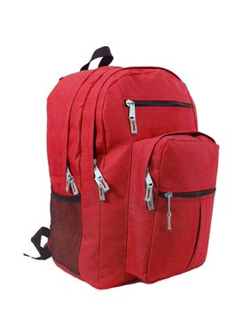 8e7860e68af2 Product Image Backpack 18 inch School Book Bag Multi Pockets College Student  Day Pack Red