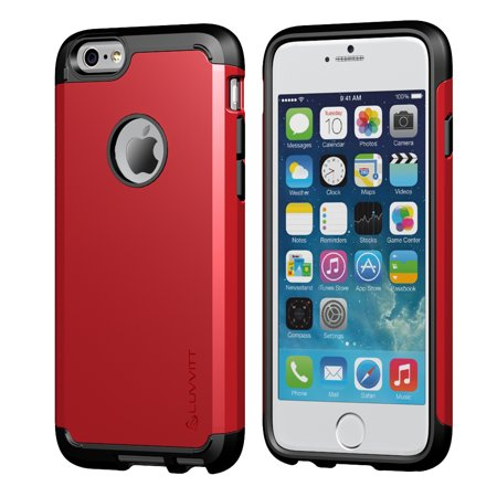 LUVVITT [Ultra Armor] Shock Absorbing Case Best Heavy Duty Dual Layer Tough Cover for Apple iPhone 6 Plus / iPhone 6s Plus