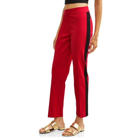 LIFESTYLE ATTITUDE Women's Side Stripe Slim Leg Ankle Pull On Pant