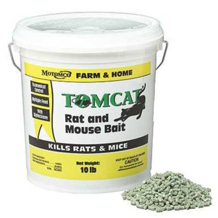 008-32345 Tomcat Rat And Mouse Bait Pellet, 10 lb, Kills Norway rats roof rats and house mice By (Best Way To Kill Rats In House)
