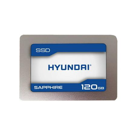 "Hyundai Technology Sapphire SSD 120GB 3D TLC Flash, Internal 2.5"" SATA III"