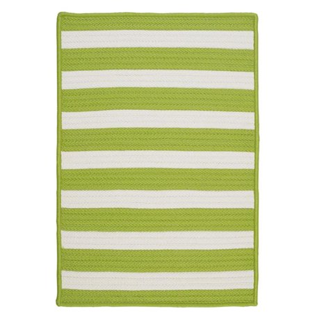 Colonial Mills TR29R036X036S 3 ft. Stripe It Square Rug, Bright Lime - image 1 de 1