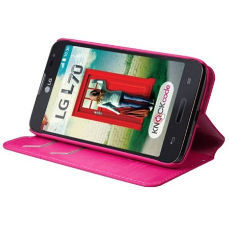 Insten Premium Hot Pink Hybrid TUFF Phone Cover Case For LG Optimus L70 Exceed II Dual D325 - image 4 of 5