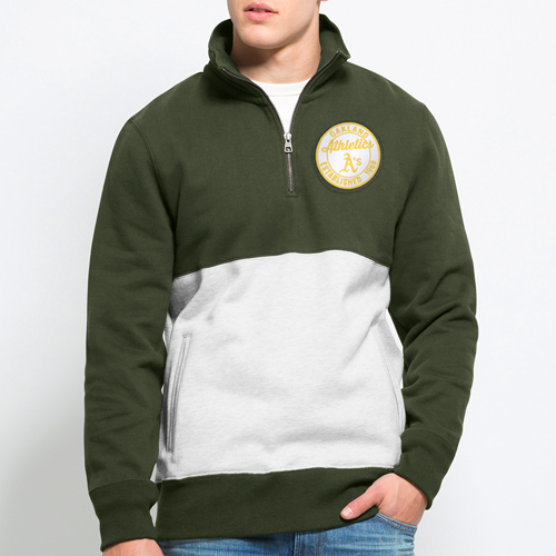 Oakland Athletics '47 Coastal Quarter-Zip Pullover Sweatshirt - Green