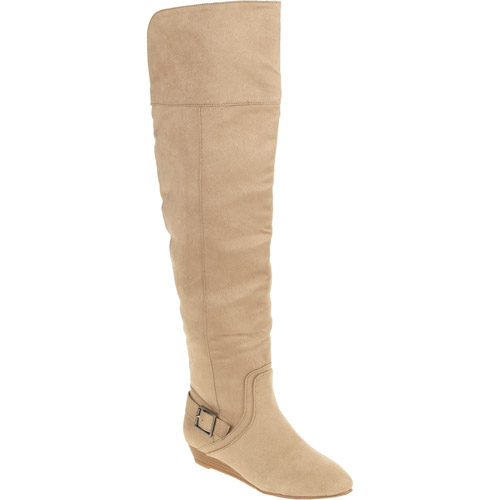 Laundry List Women's Sliver Wedge Over-the-knee Riding Boot