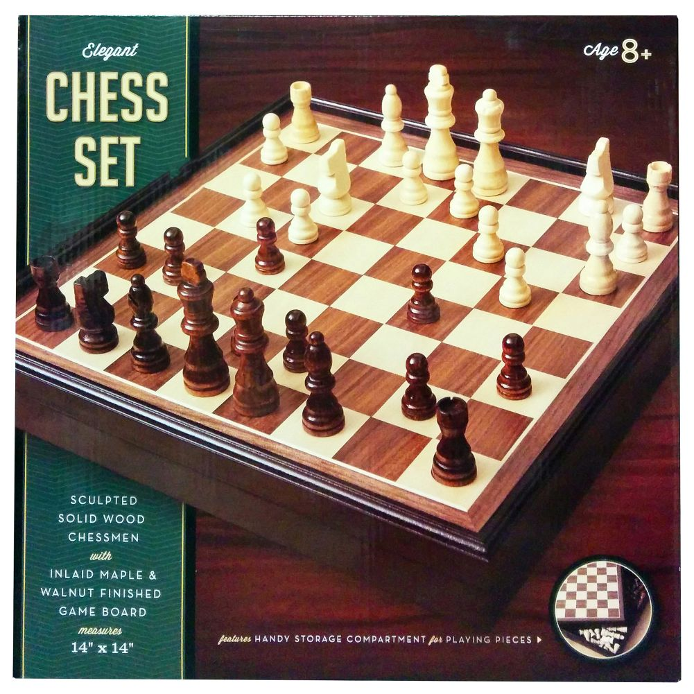 Deluxe Wooden Chess Set, Entertainment by Go! Games by