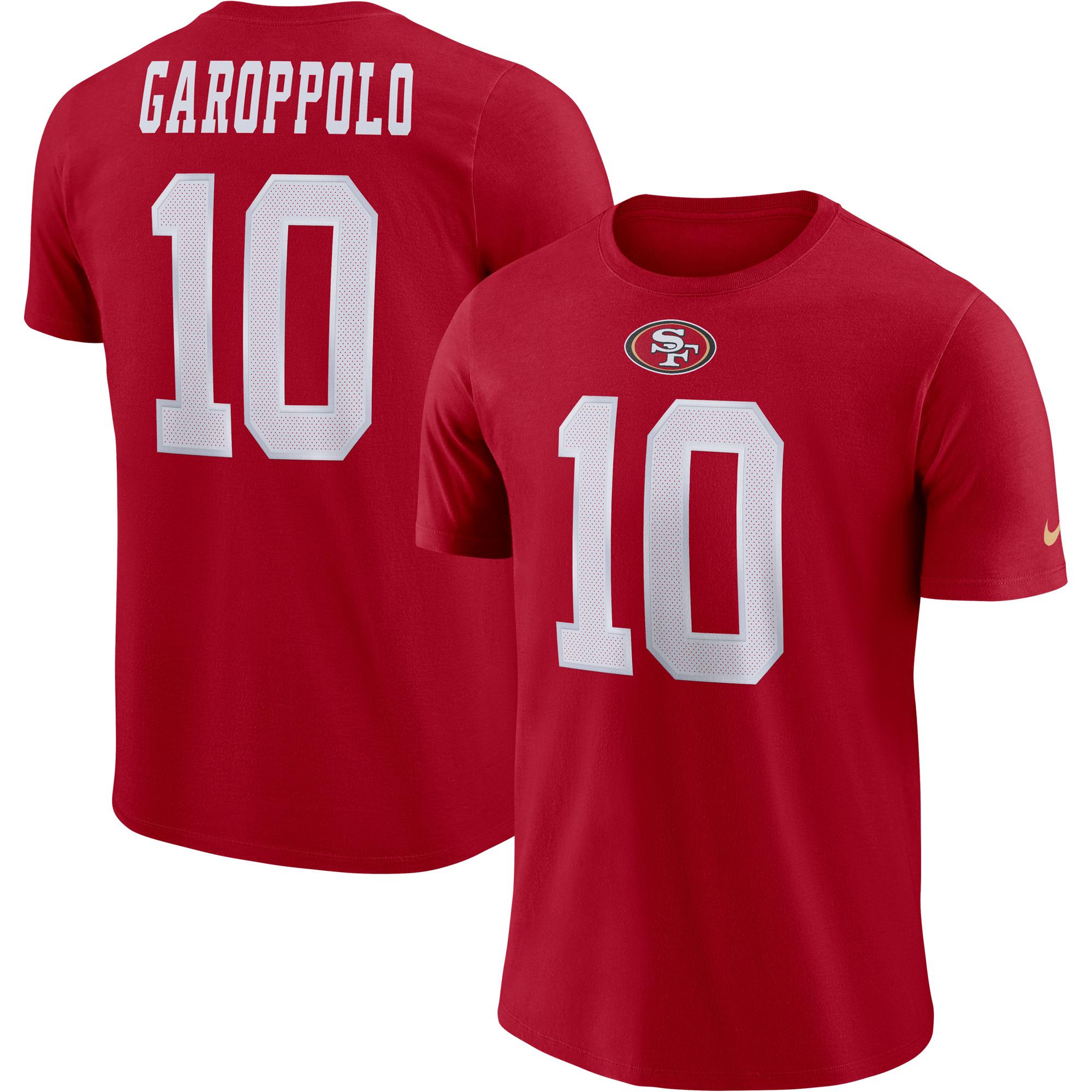 Jimmy Garoppolo San Francisco 49ers Nike Player Pride Name & Number Performance T-Shirt - Scarlet